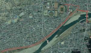 高橋尚子ロードコース図