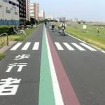 歩行者とサイクリング