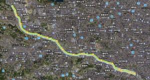 多摩川走行マップ